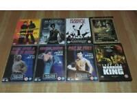 8 MARTIAL ARTS DVD'S