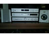 Rotel seperates hi fi system & Monitor audio speakers