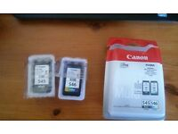 Canon black and color cartridges 545 - 546