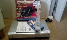 Dvd vcr recorder and B&W camera. Bundle