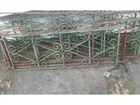 Steel gates fence sections, railings iron work