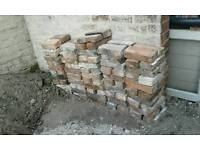 """100 reclaimed 2"""" Cheshire hand made bricks, ckeaned ready for re-use."""