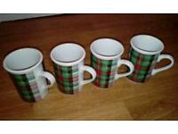 4 x Scottish themed mugs