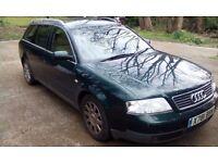 Audi A6 SE Avant. X-Reg (2000). 2.4L Petrol. Manual. MOT til DEC. Needs new clutch.