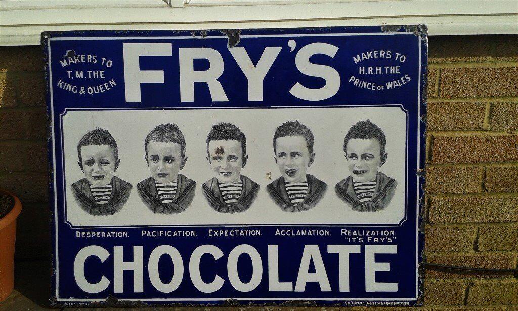 Frys Five Boys Enamel Sign In Northampton Northamptonshire Gumtree