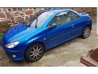 peugeot 206 cc convertable spares or repairs 55 plate