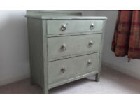 Chest of Drawers, solid wood, in a shade of green