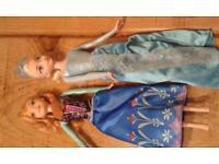Anna and Elsa dolls.