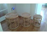 Wickerwork Nest of Tables