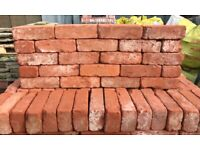 68MM RECLAMATION SOFT RED CHELSEA BRICKS - 8000 AVAILABLE.