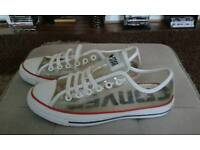 Clear Converse Sneakers.