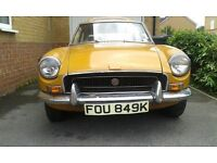 MG B GT WITH OVERDRIVE 1972 BARN FIND
