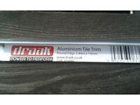 10 mm round edge tile trim aluminium chrome finish