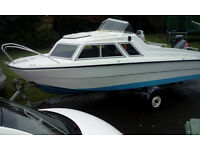 MICROPLUS 502 BOAT 18FT, 25HP MARINER ENGINE