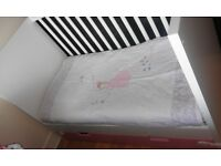 White STUVA COT From Ikea in excellent condition, include the matress
