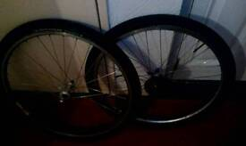 Road tyres and rims