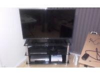 Dark Glass TV Stand - 3 tiers