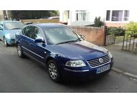 VW PASSAT,53reg.2.0petrol,blue,MOT,130000miles,FSH,4new tyres,clean IN and Out,manual.quick sale.