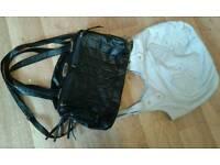 2 ladies handbags-black & grey