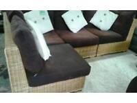 Rattan corner set with storage bargain bargain price