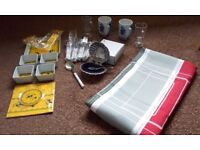 New Tablecloth, Knives & Forks & Other Items