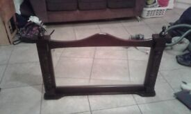 Solid mahogany mirror ready to go