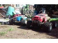 swap for 250cc ,two nitro remote control trucks plus loads of spares