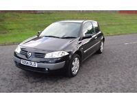 RENAULT MEGANE 1.6 DYNAMIQUE SPORT PETROL 3 DOOR H/B MET BLACK PAINT /BLCK CLOTH INTERIOR MOT DEC 16