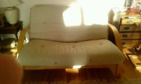 Contemporary Double Beech and pine Futon in great condition
