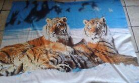 Tiger blanket throw animal print