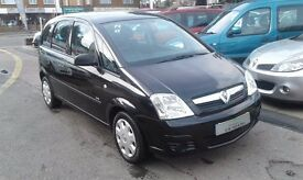 2006/56 VAUXHALL MERIVA 1.3CDTI 16V LIFE 5 DOOR,BLACK, GOOD CONDITION,ECONOMICAL TO RUN,DRIVES WELL