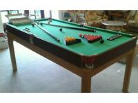 6ft Pool/Snooker table with all accessories in great condition