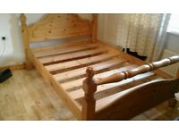 Beautiful Solid Pine Double Bed Frame