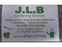 Gardener looking for work own transport tools etc