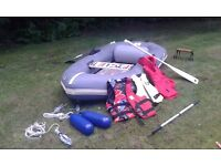 Avon Redcrest Dingy with outboard bracket and accessories