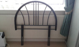 single headboard. black metal in very good condition