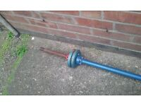 solid metal barbell with 4kg either end (Sherwood Nottingham NG5