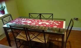 IKEA GRANAS TABLE & 6 CHAIRS