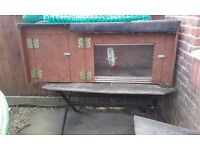 Large solid handmade Rabbit hutch