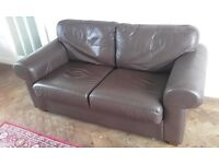 Leather Sofa AND Large Rug
