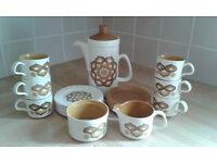 Vintage Royal Worcester Palissy Coffee Set