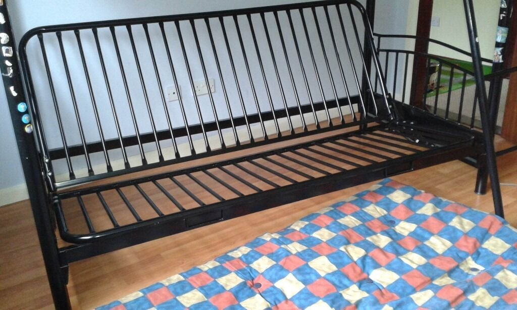 Bunk bed and double fold out bedin Newry, County DownGumtree - Bunk bed with sofa/ double bed.can sleep 3. Tab for ladder broken on one side. Mattress and futon included. Solid piece of furniture. Thanks for looking