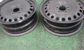 steel wheel rims x2 for mk 3 mondeo 5stud hub
