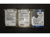 Faulty 2.5 laptop hard disk drives