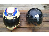 2 crash helmets in good condition used in kit car racing so lightly used.