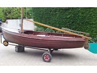 BALLYHOLME INSECT ARMY TYPE TRADITIONAL CLASSIC 14' CLINKER SAILING DINGHY £875