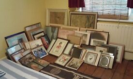 PICTURE FRAMES OLD & NEW ASSORTED SIZES (All with glass) 50p -£4 Or £40 the lot. NO TEXTS PLEASE