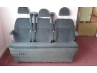 2003 Ford Transit Tourneo 3 seat centre bench with fixing brackets -tilting/asymmetrically split.