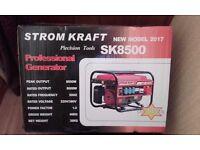STROM KRAFT 8000 watt petrol generator--NEW UNUSED--boxed