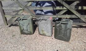 Three 20 Litre (5 Gallon) Jerry Cans full of two year old diesel fuel - £40 the lot NO OFFERS!